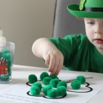 Shamrock Pom Pom Activity + Free Printable
