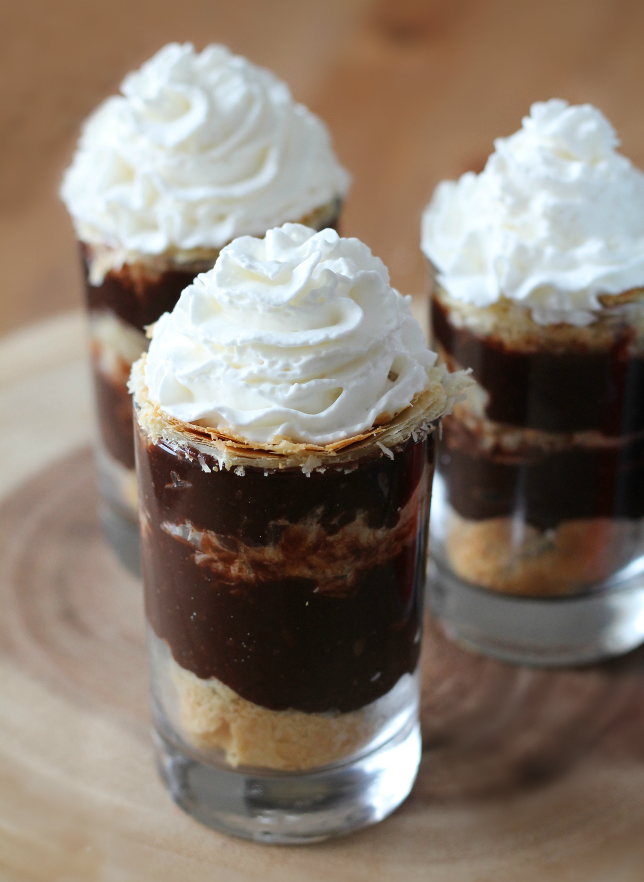Puff Pastry Pudding Cup