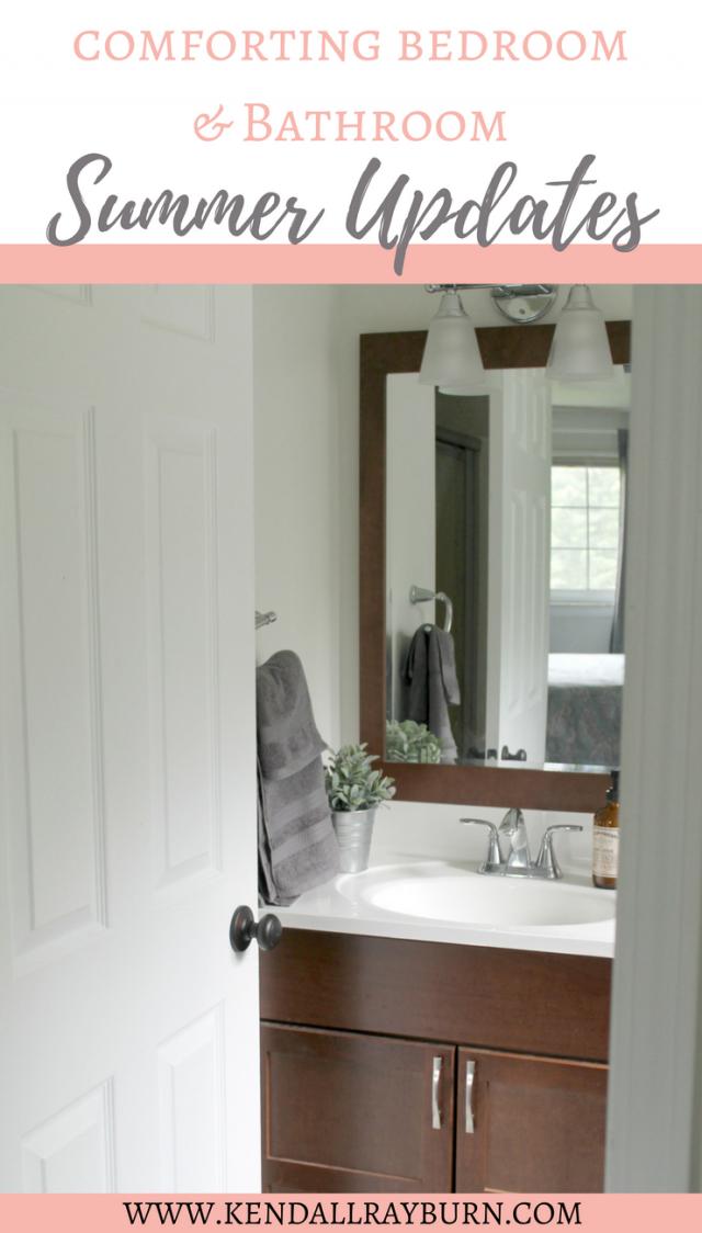 Comforting Bedroom & Bathroom Summer Updates