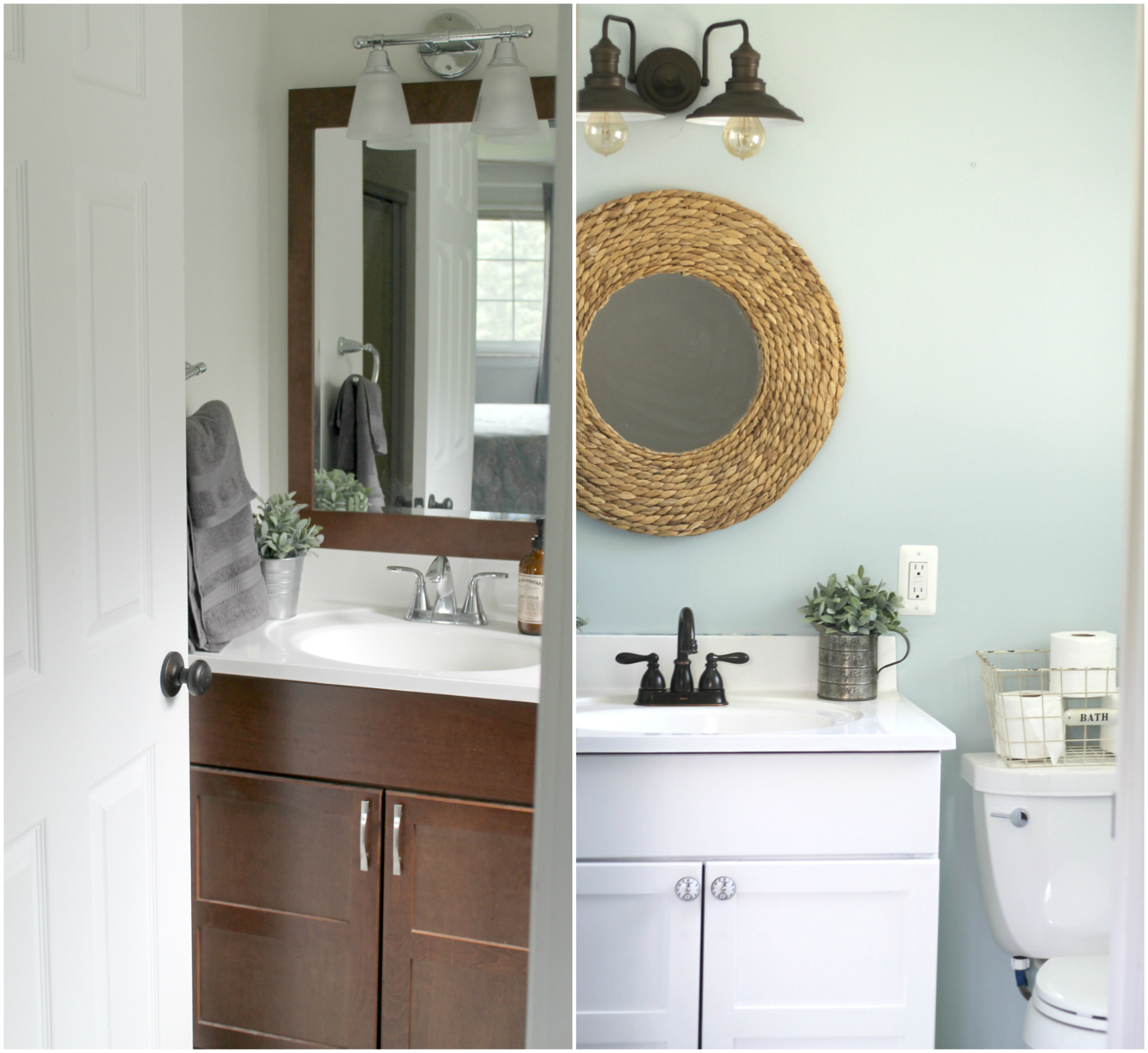 Before And After Bathroom Makeovers On A Budget: Budget-Friendly Small Bathroom Makeover