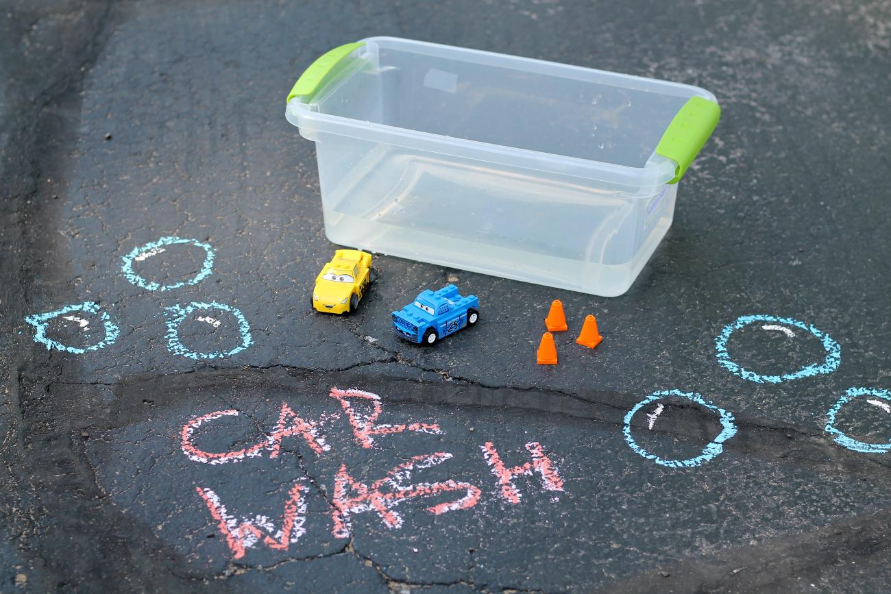 Disney•Pixar's Cars 3 Chalk Race Track & Car Wash Activity
