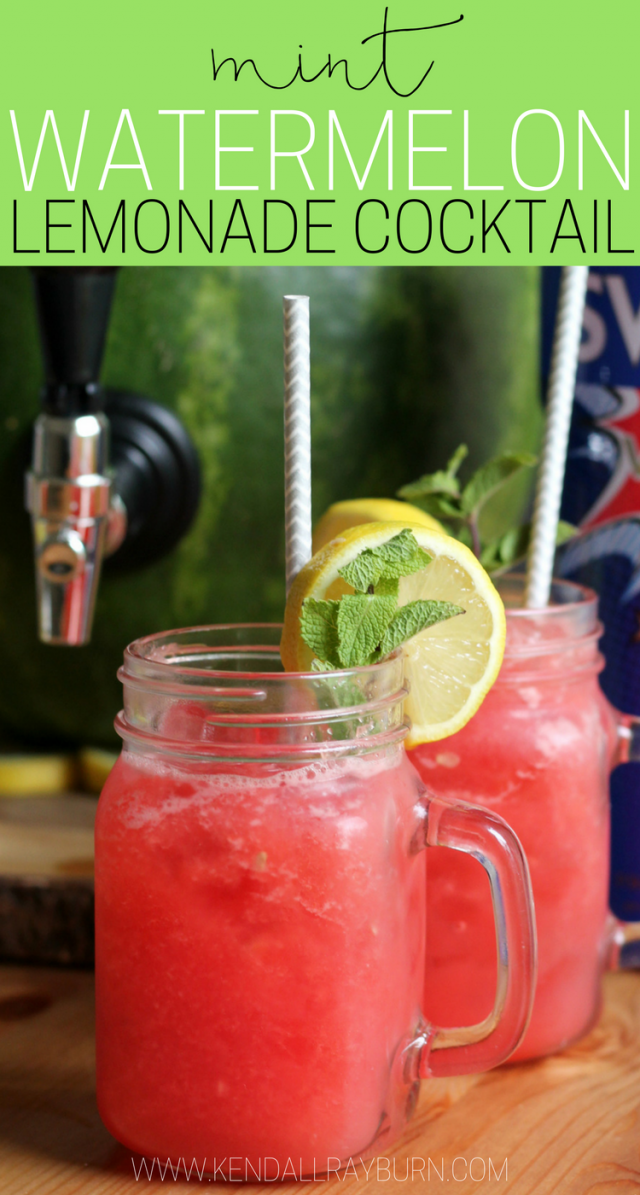 Mint Watermelon Lemonade Cocktail