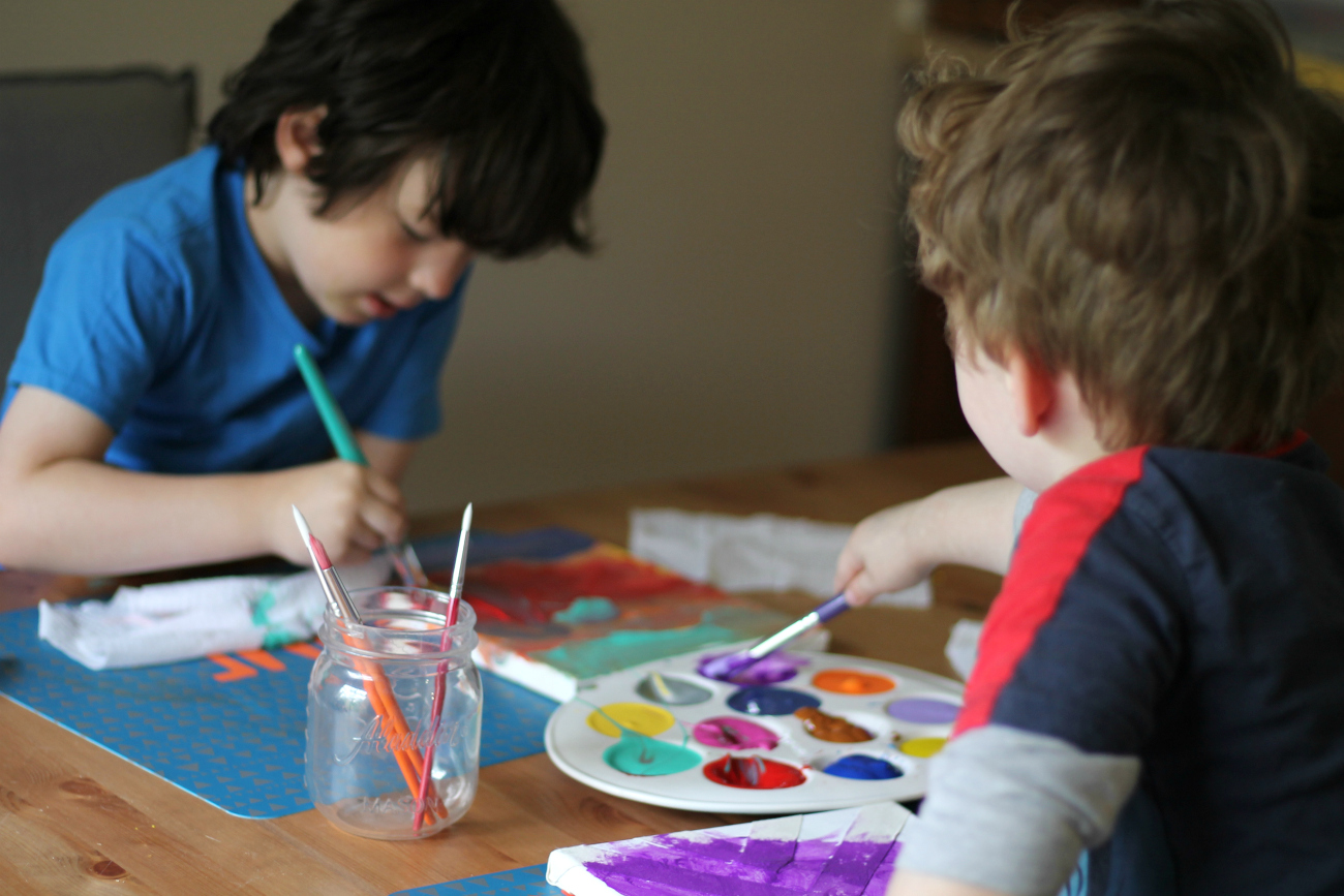 Kids Tape Canvas Painting Activity