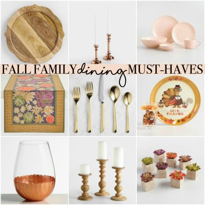 10 Fall Family Dining Must-Haves