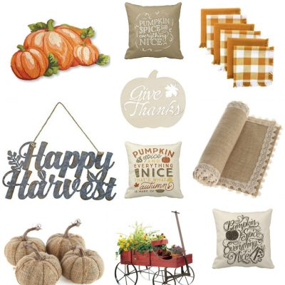 Adorable and Affordable Farmhouse Fall Decor on Amazon