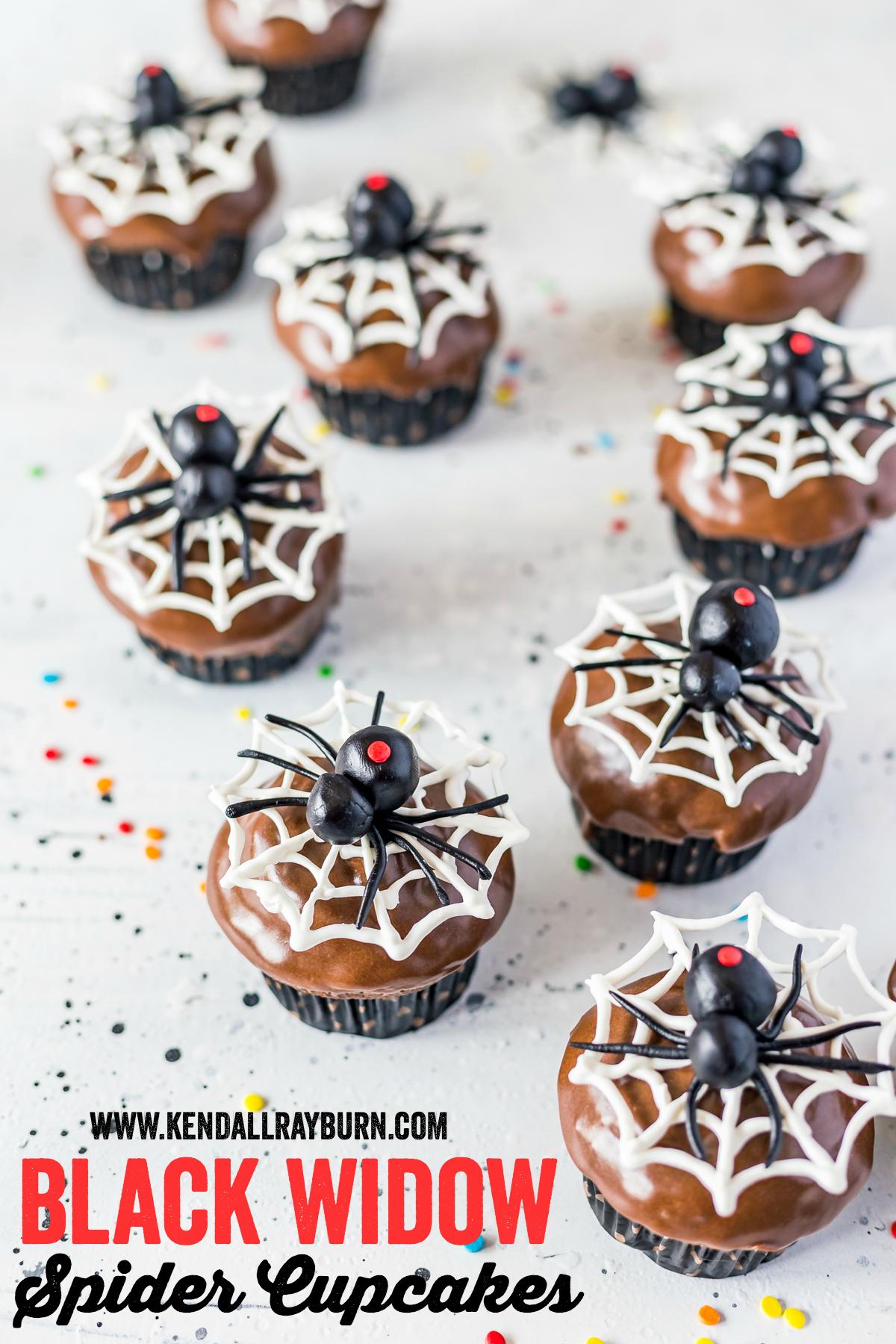 Black Widow Spider Cupcakes