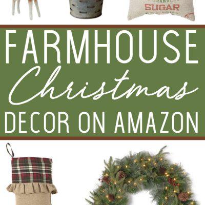 Farmhouse Christmas Decor on Amazon