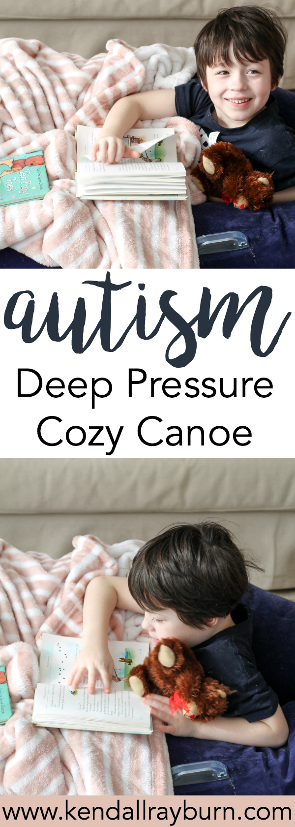 Autism: Cozy Canoe Reading Nook perfect for reading and relaxing!