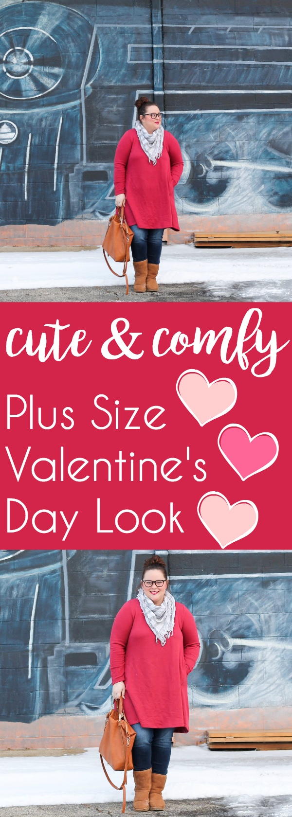 Cute and Comfy Valentine's Day Look