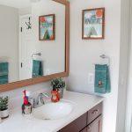 Budget-Friendly Woodland Themed Kids Bathroom Makeover