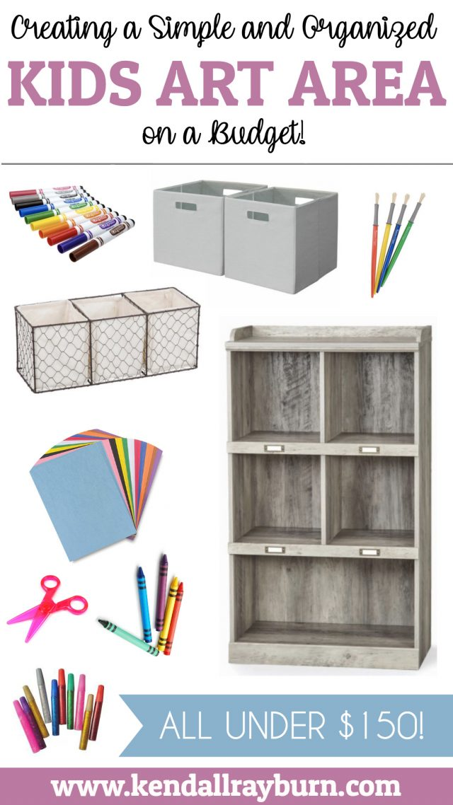 Creating a Kids Art Area on a Budget