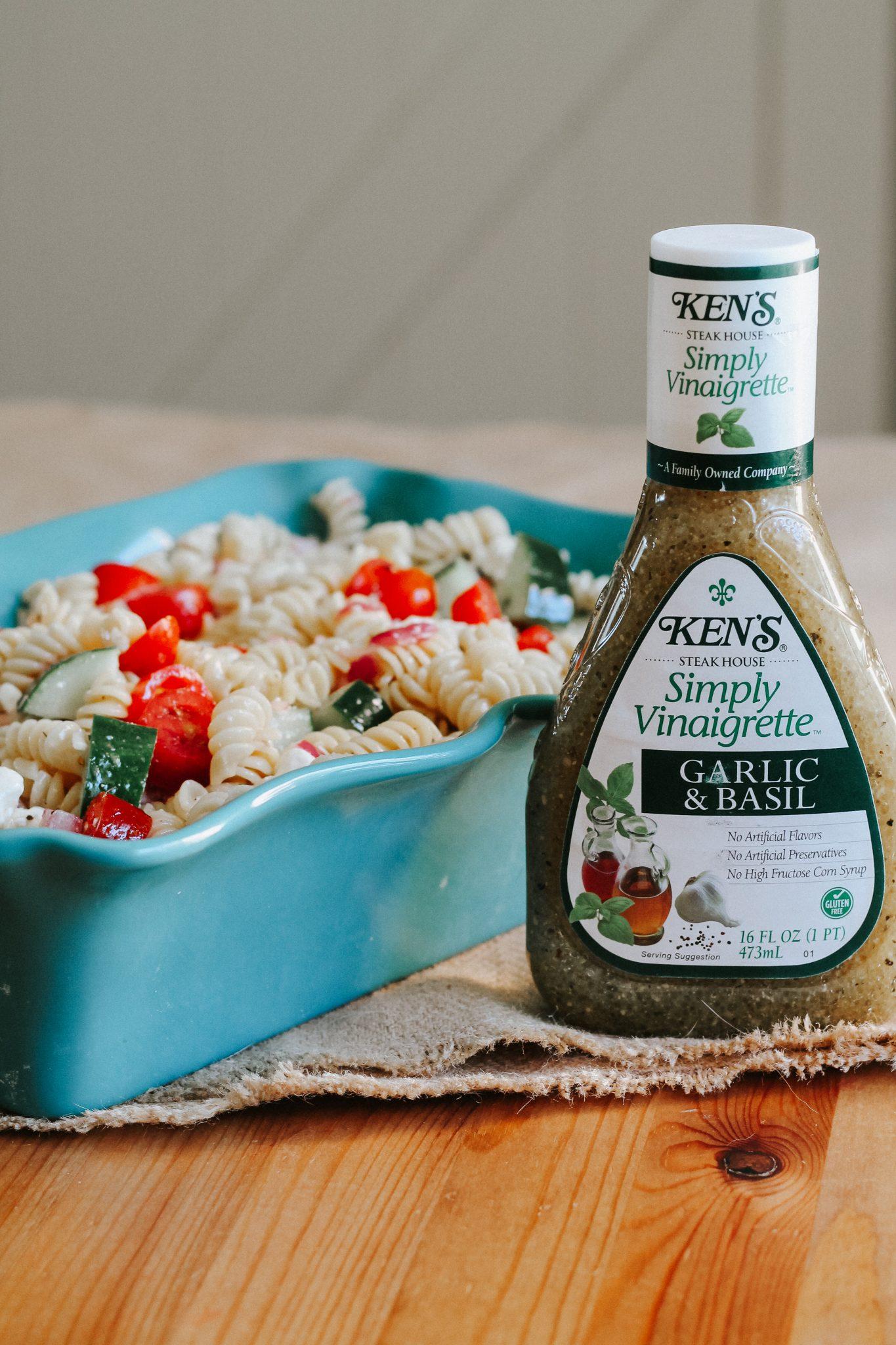 Easy Garlic Basil Pasta Salad