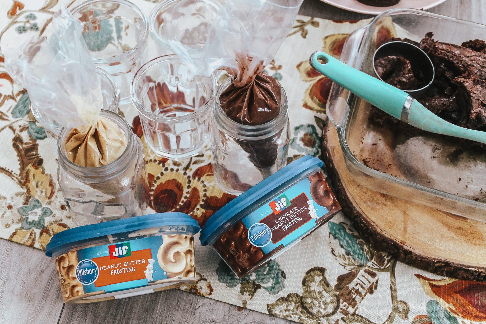 Peanut Butter Brownie Parfaits