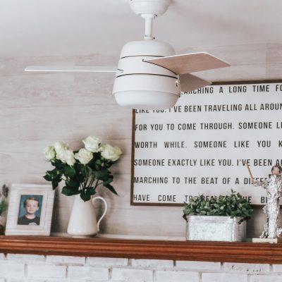 Living Room Makeover: The Best Under $100 Ceiling Fan