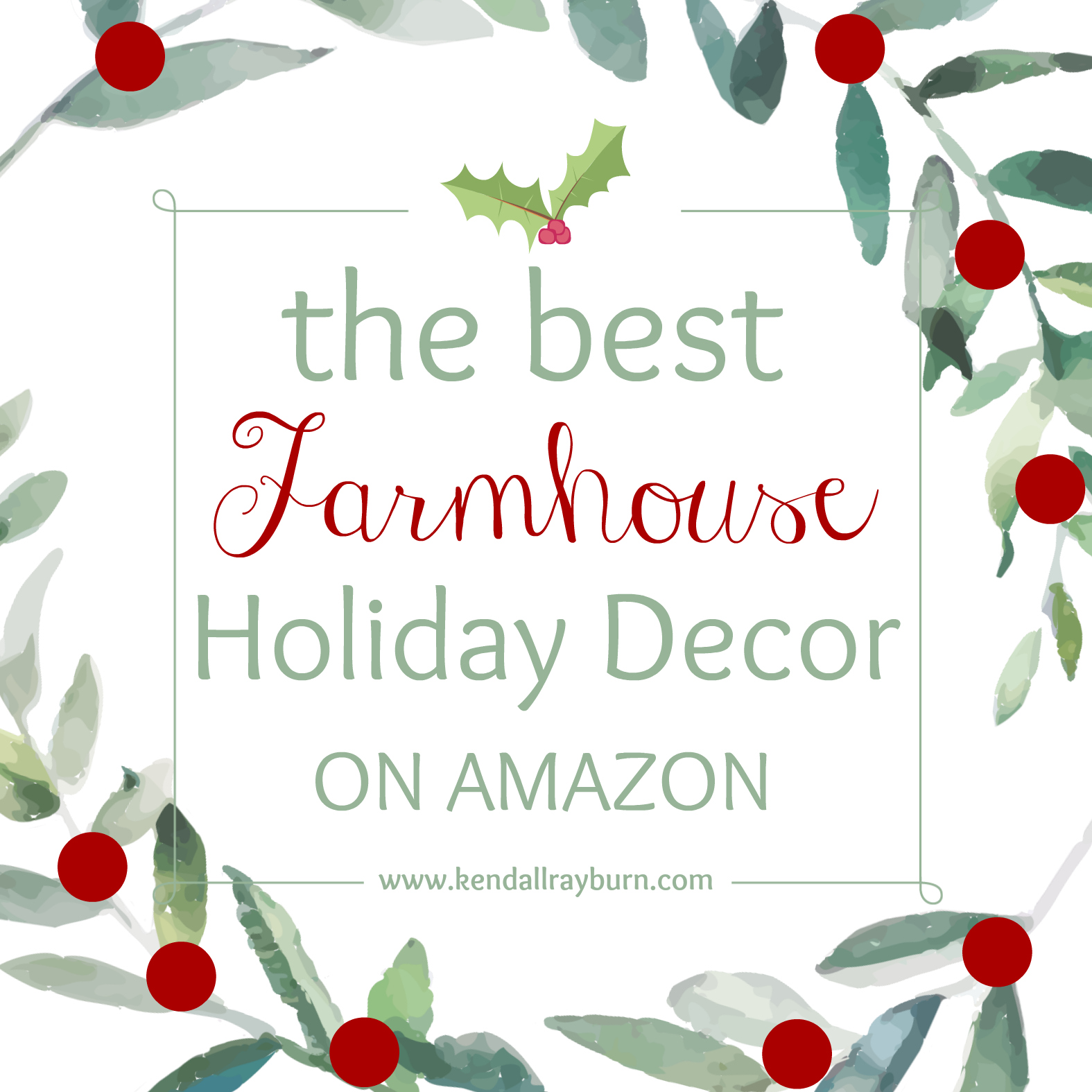 Farmhouse Amazon Holiday Top Picks