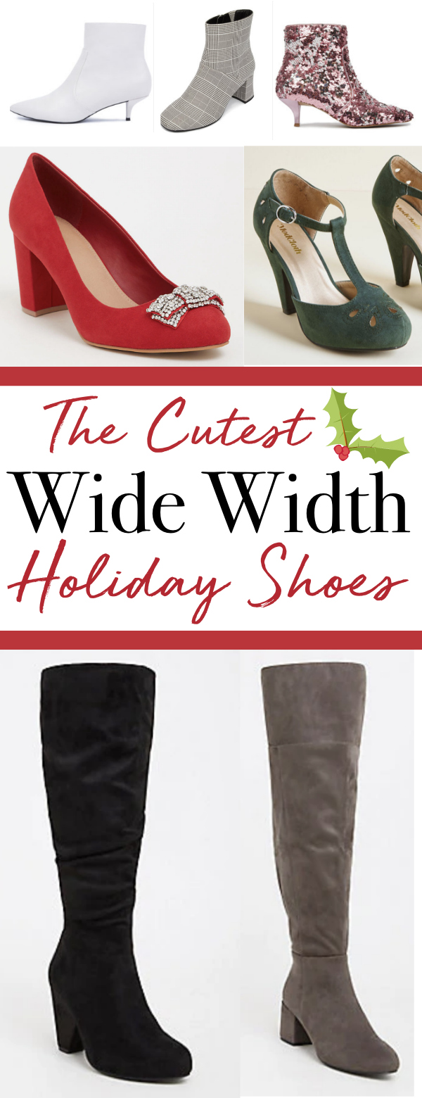 The Cutest Wide Width Holiday Footwear