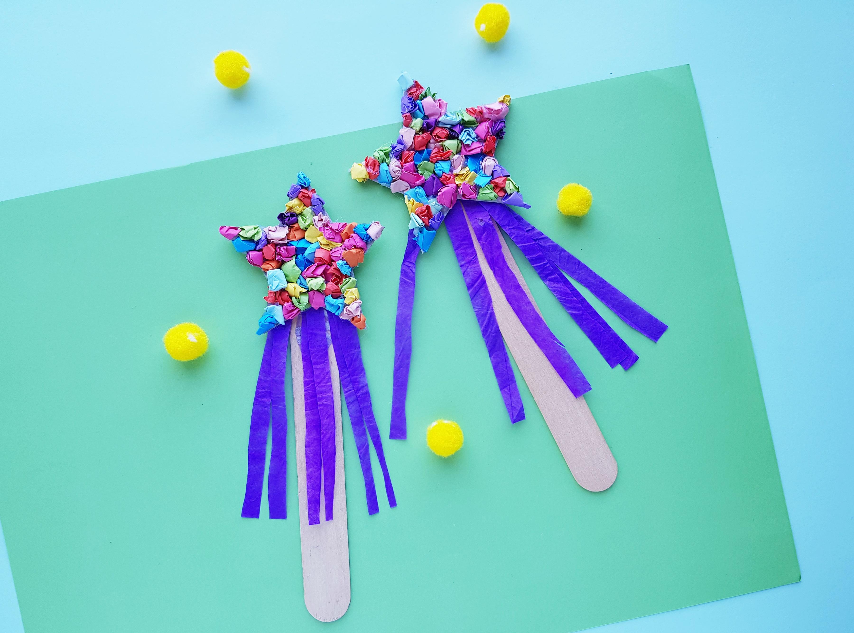 New Year's Wishing Wand Kids Craft