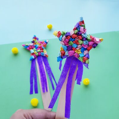 New Year's Wishing Wand Kids Craft
