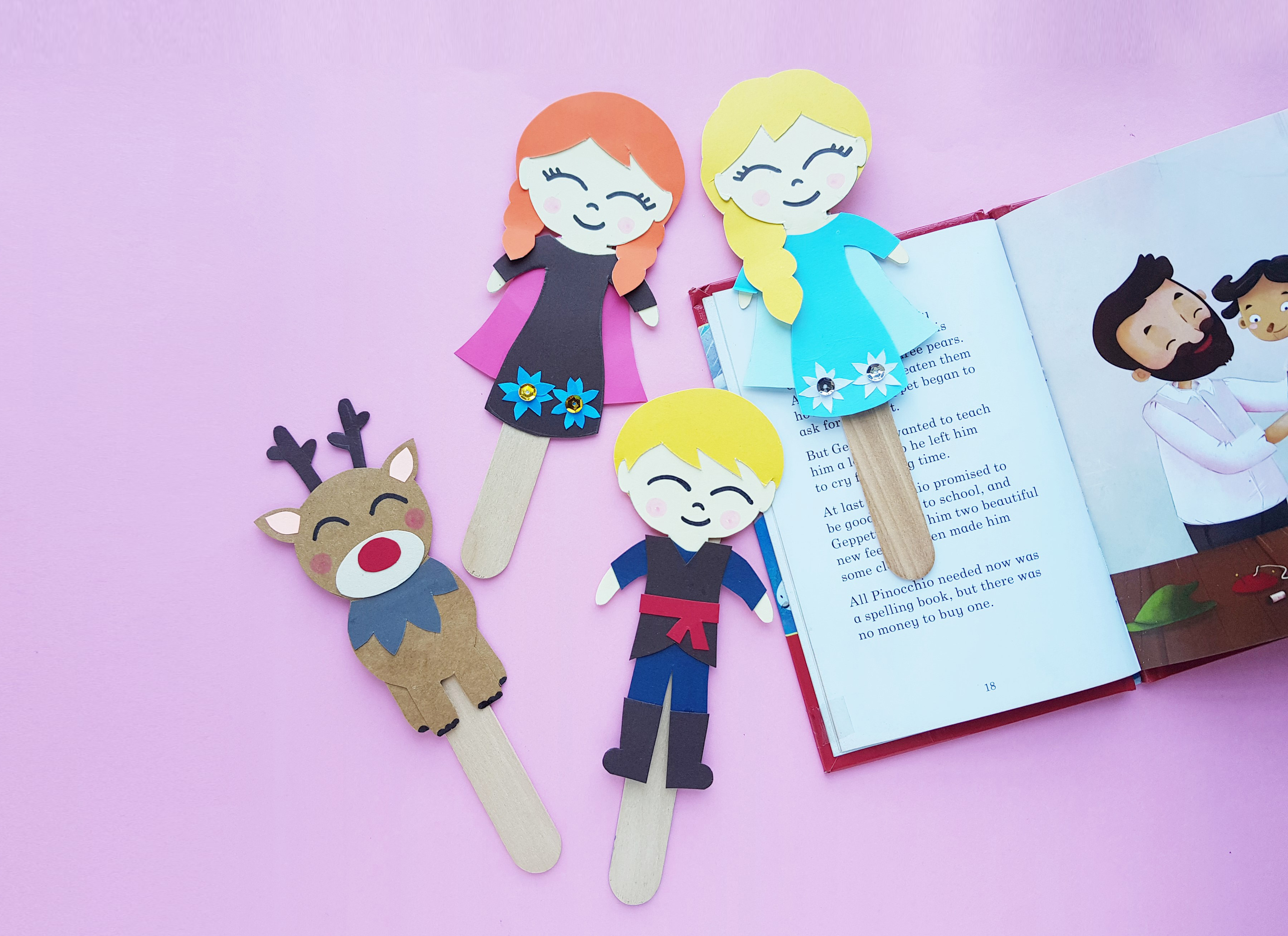 DIY Frozen 2 Bookmarks